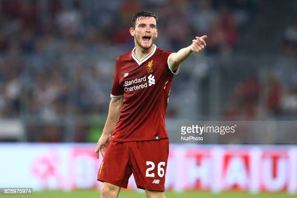 Andy Robertson of Liverpool during the Audi Cup 2017 match between Liverpool FC and Atletico Madrid at Allianz Arena on August 2 2017 in Munich...
