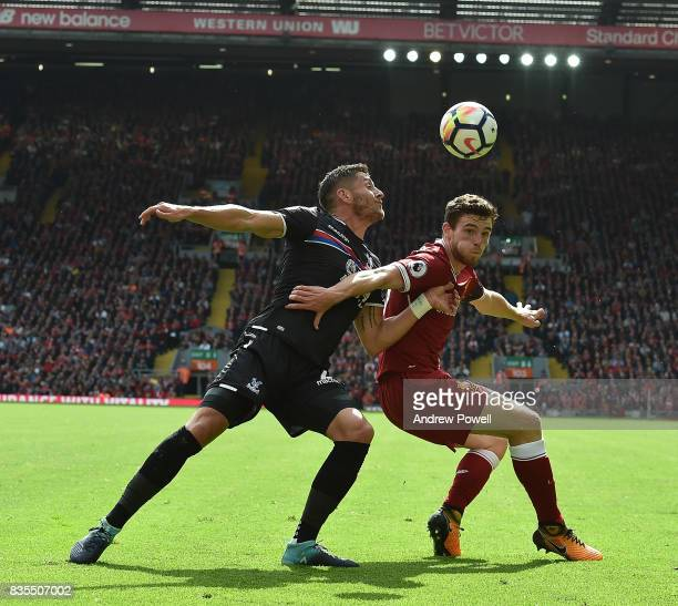 Andy Robertson of Liverpool during the Premier League match between Liverpool and Crystal Palace at Anfield on August 19 2017 in Liverpool England