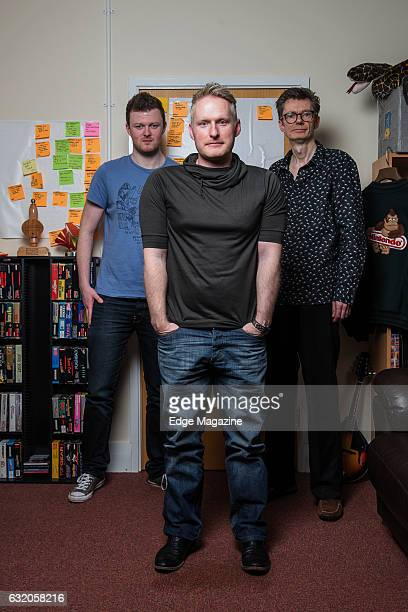 Andy Robinson Gavin Price and Chris Sutherland of British video game studio Playtonic photographed at their offices in Burton Upon Trent on April 26...