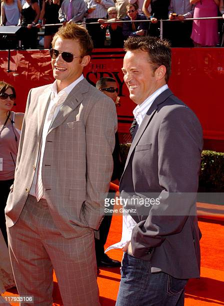 Andy Roddick and Matthew Perry during 2005 ESPY Awards Arrivals at Kodak Theatre in Hollywood California United States