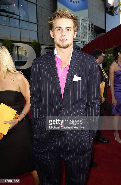 Andy Roddick during 2004 ESPY Awards Red Carpet at Kodak Theatre in Hollywood California United States