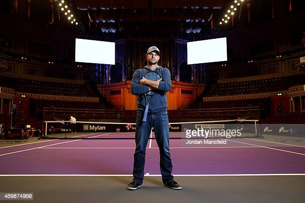 Andy Roddick poses for a photo ahead of day one of the Statoil Masters Tennis at the Royal Albert Hall on December 3 2014 in London England