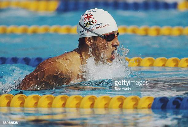 Andy Rolley of Great Britain swims in the Men's 200 metres Individual Medley during the XXV Summer Olympic Games on 31 July 1992 at the Bernat...