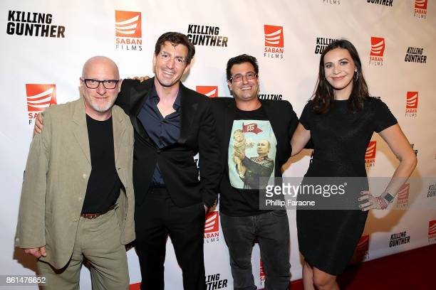 Andy Ross Dino Meneghin Charles Barsamian and Meghan Kozlosky attend the KILLING GUNTHER premiere on October 14 2017 in Los Angeles California