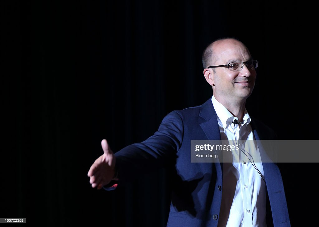 Andy Rubin, senior vice president at Google Inc., arrives for the New Economy Summit 2013 hosted by the Japan Association of New Economy (JANE) in Tokyo, Japan, on Tuesday, April 16, 2013. Rakuten Inc. Chairman Hiroshi Mikitani set up the JANE in June after quitting the main business lobby Nippon Keidanren in protest over the group's support for nuclear power. Photographer: Tomohiro Ohsumi/Bloomberg via Getty Images