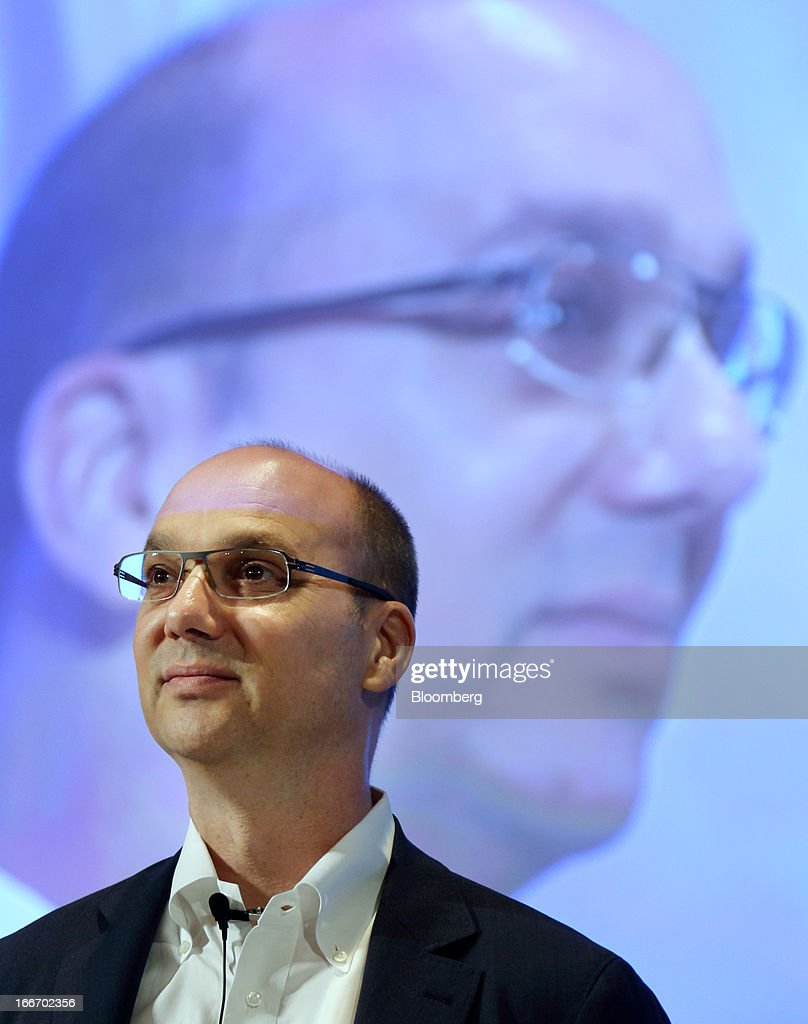 Andy Rubin, senior vice president at Google Inc., attends the New Economy Summit 2013 hosted by the Japan Association of New Economy (JANE) in Tokyo, Japan, on Tuesday, April 16, 2013. Rakuten Inc. Chairman Hiroshi Mikitani set up the JANE in June after quitting the main business lobby Nippon Keidanren in protest over the group's support for nuclear power. Photographer: Tomohiro Ohsumi/Bloomberg via Getty Images
