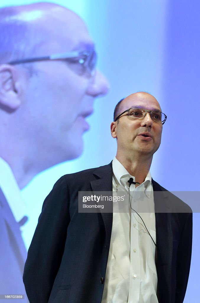 Andy Rubin, senior vice president at Google Inc., speaks at the New Economy Summit 2013 hosted by the Japan Association of New Economy (JANE) in Tokyo, Japan, on Tuesday, April 16, 2013. Rakuten Inc. Chairman Hiroshi Mikitani set up the JANE in June after quitting the main business lobby Nippon Keidanren in protest over the group's support for nuclear power. Photographer: Tomohiro Ohsumi/Bloomberg via Getty Images