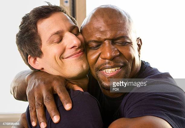 Andy Samberg and Terry Crews in the 'Tactical Village' episode of BROOKLYN NINENINE airing Tuesday March 4 2014 on FOX
