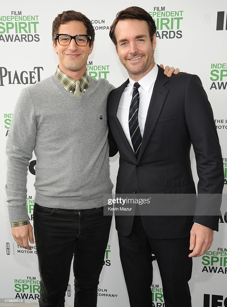 <a gi-track='captionPersonalityLinkClicked' href=/galleries/search?phrase=Andy+Samberg&family=editorial&specificpeople=595651 ng-click='$event.stopPropagation()'>Andy Samberg</a> and <a gi-track='captionPersonalityLinkClicked' href=/galleries/search?phrase=Will+Forte&family=editorial&specificpeople=2155213 ng-click='$event.stopPropagation()'>Will Forte</a> attend the 2014 Film Independent Spirit Awards at Santa Monica Beach on March 1, 2014 in Santa Monica, California.