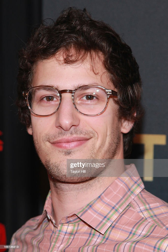 <a gi-track='captionPersonalityLinkClicked' href=/galleries/search?phrase=Andy+Samberg&family=editorial&specificpeople=595651 ng-click='$event.stopPropagation()'>Andy Samberg</a> arrives at MasterCard Priceless Premieres presents Justin Timberlake at Roseland Ballroom on May 5, 2013 in New York City.