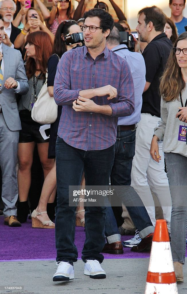 <a gi-track='captionPersonalityLinkClicked' href=/galleries/search?phrase=Andy+Samberg&family=editorial&specificpeople=595651 ng-click='$event.stopPropagation()'>Andy Samberg</a> as seen on July 23, 2013 in Los Angeles, California.