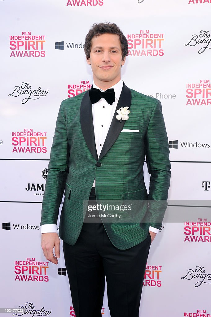 <a gi-track='captionPersonalityLinkClicked' href=/galleries/search?phrase=Andy+Samberg&family=editorial&specificpeople=595651 ng-click='$event.stopPropagation()'>Andy Samberg</a> attends the 2013 Film Independent Spirit Awards After Party hosted by Microsoft Windows Phone at The Bungalow at The Fairmont Hotel on February 23, 2013 in Santa Monica, California.
