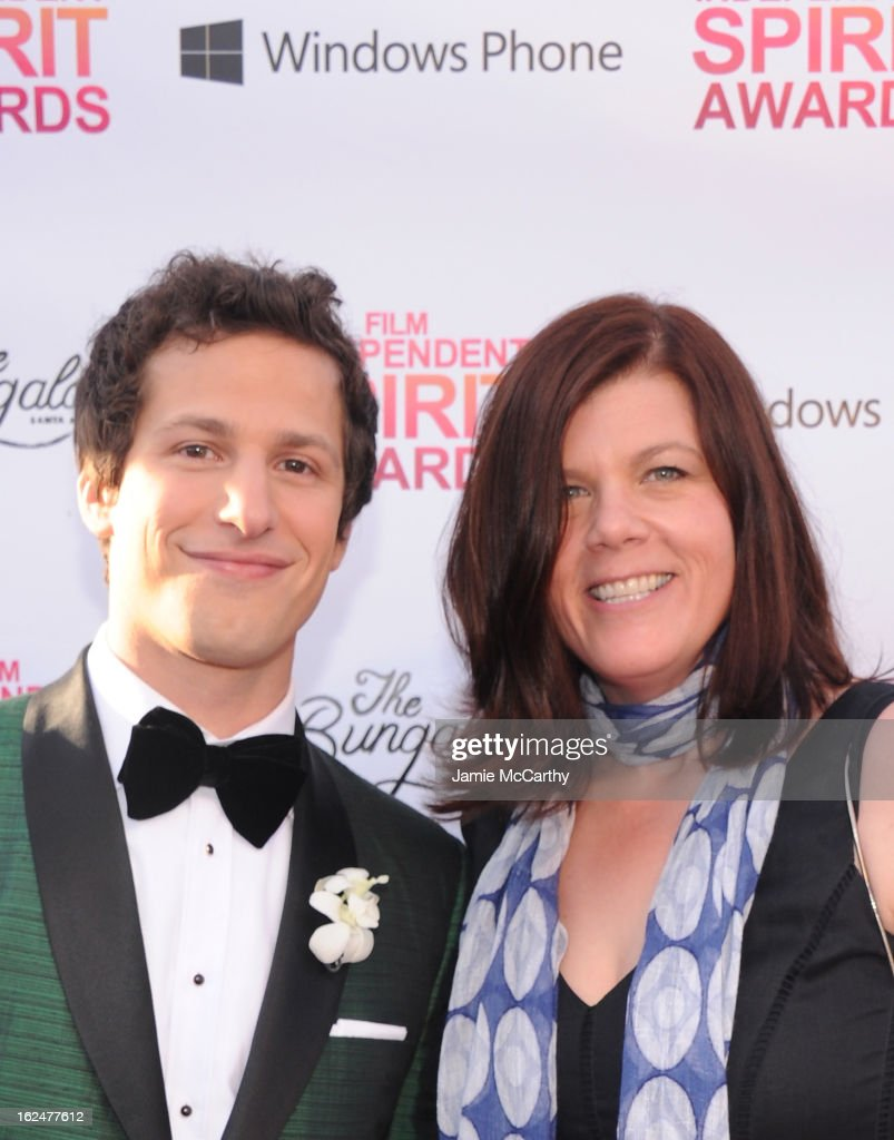 Andy Samberg (L) attends the 2013 Film Independent Spirit Awards After Party hosted by Microsoft Windows Phone at The Bungalow at The Fairmont Hotel on February 23, 2013 in Santa Monica, California.
