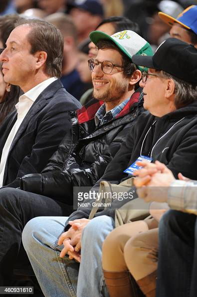Andy Samberg attends the Golden State Warriors game against the Philadelphia 76ers on December 30 2014 at Oracle Arena in Oakland California NOTE TO...