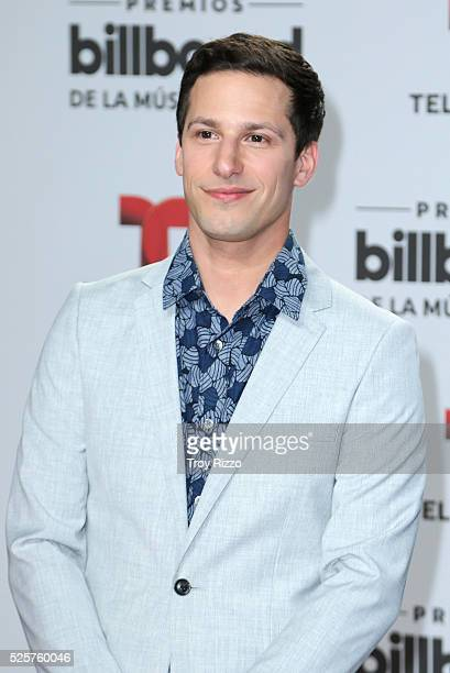 Andy Samberg is seen arriving to the Billboard Latin Music Awards at the Bank United Center on April 28 2016 in Miami Florida