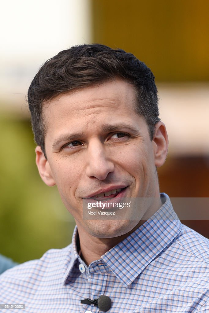 <a gi-track='captionPersonalityLinkClicked' href=/galleries/search?phrase=Andy+Samberg&family=editorial&specificpeople=595651 ng-click='$event.stopPropagation()'>Andy Samberg</a> visits 'Extra' at Universal Studios Hollywood on May 26, 2016 in Universal City, California.