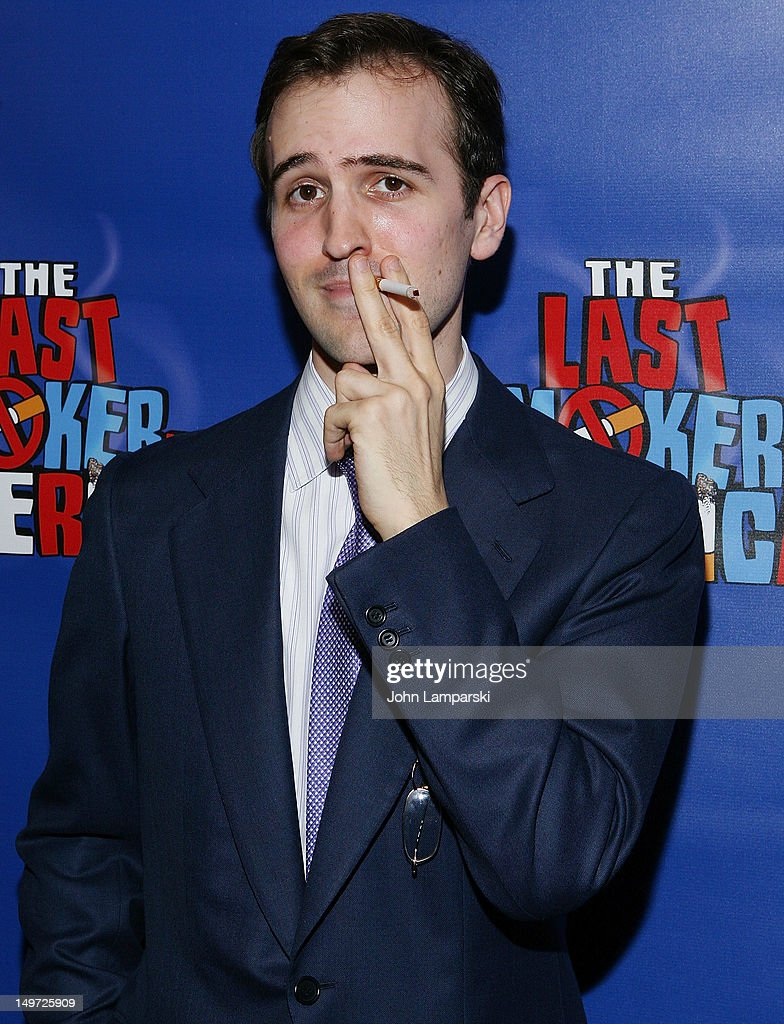 Andy Sandberg attends 'The Last Smoker In America' Hosts 'Smoke-in/Smoke-Out' at The Westside Theatre on August 2, 2012 in New York City.
