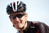 Andy Schleck of Luxembourg and Trek Factory Racing arrives at the start of stage three of the 2014 Criterium International from PortoVecchio to Col...