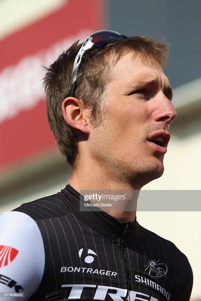 <a gi-track='captionPersonalityLinkClicked' href=/galleries/search?phrase=Andy+Schleck&family=editorial&specificpeople=768445 ng-click='$event.stopPropagation()'>Andy Schleck</a> of Luxembourg and Trek Factory Racing during stage 3 of the Paris-Nice race from Toucy to Circuit de Nevers Magny-Cours on March 11, 2014 in Magny-Cours, France.