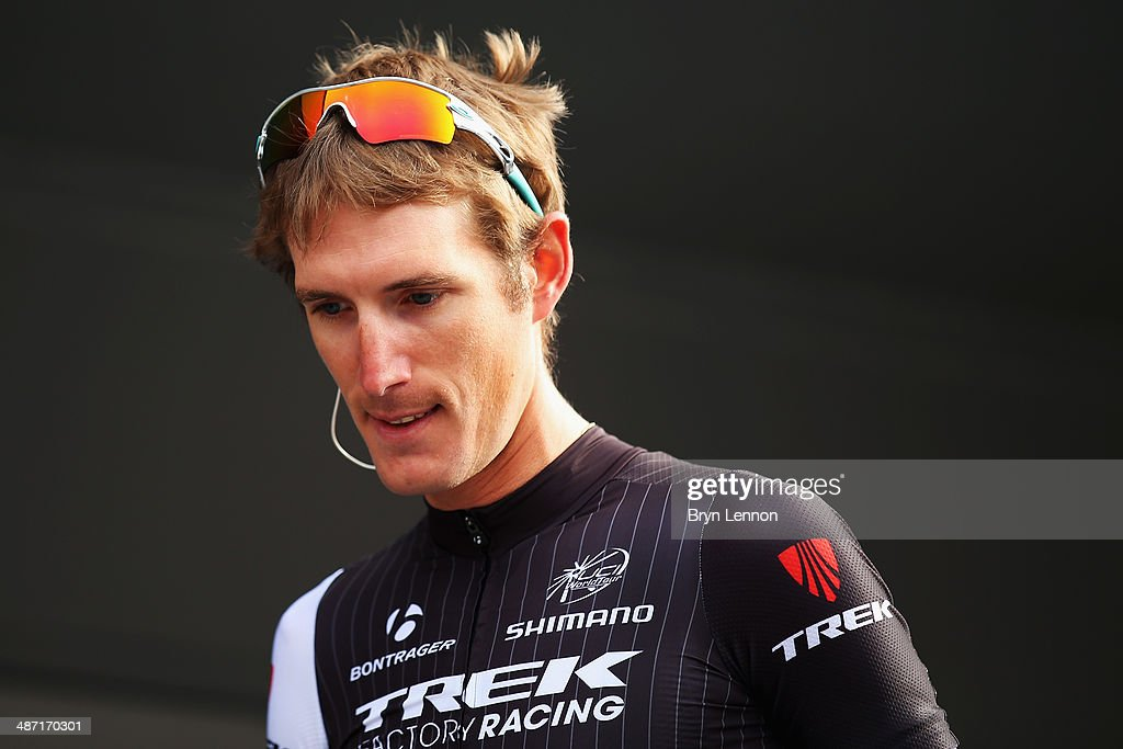 <a gi-track='captionPersonalityLinkClicked' href=/galleries/search?phrase=Andy+Schleck&family=editorial&specificpeople=768445 ng-click='$event.stopPropagation()'>Andy Schleck</a> of Luxembourg and Trek Factory Racing signs in at the start of the 100th edition of the Liege-Bastogne-Liege road race on April 27, 2014 in Liege, Belgium. The 263km race, named 'La Doyenne' is the oldest of the monuments in the cycling calendar.
