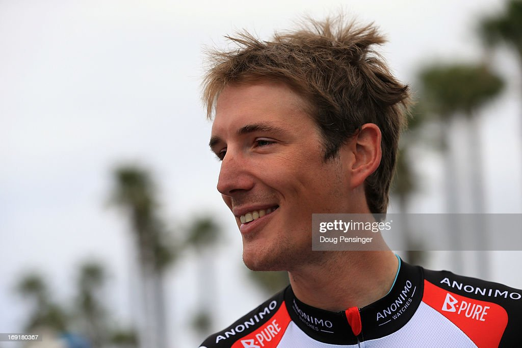 <a gi-track='captionPersonalityLinkClicked' href=/galleries/search?phrase=Andy+Schleck&family=editorial&specificpeople=768445 ng-click='$event.stopPropagation()'>Andy Schleck</a> of Luxembourg riding for Radioshack Leopard Trek prepares for the start of Stage Five of the 2013 Amgen Tour of California from Santa Barbara to Avila Beach on May 16, 2013 in Santa Barbara, California.