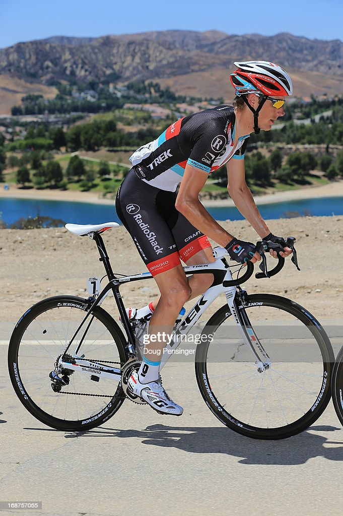Andy Schleck of Luxembourg riding for Radioshack Leopard Trek rides in the breakaway during Stage Three of the 2013 Amgen Tour of California from Palmdale to Santa Clarita on May 14, 2013 in Santa Clarita, California.