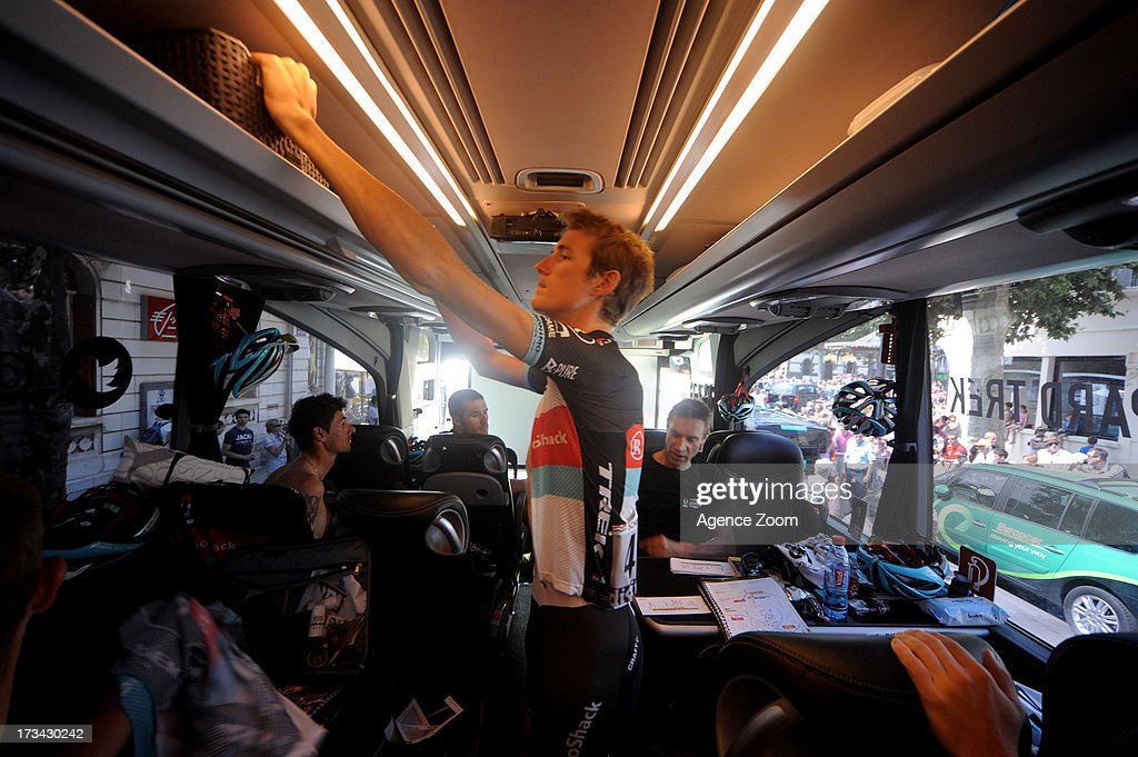 Andy Schleck of Team Radioshack Leopard during Stage 14 of the Tour de France on July 13, 2013 Saint-Pourcain-sur-Sioule to Lyon, France.