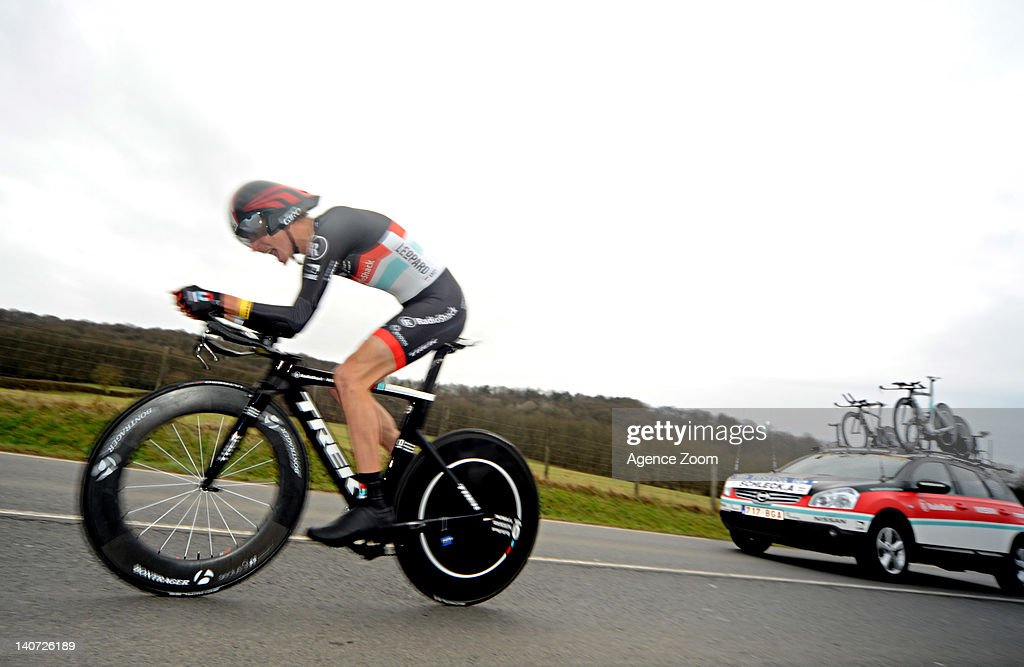<a gi-track='captionPersonalityLinkClicked' href=/galleries/search?phrase=Andy+Schleck&family=editorial&specificpeople=768445 ng-click='$event.stopPropagation()'>Andy Schleck</a> of Team RadioShack Nissan Trek during Stage 1 of the Paris-Nice Cycle Race on March 04 2012, Dampierre, France.