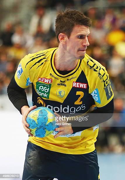 Andy Schmid of RheinNeckar Loewen controles the ball during the DKB HBL Bundesliga match between RheinNeckar Loewen and Fuechse Berlin at SAP Arena...