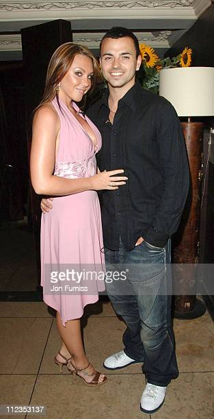 Andy Scott Lee and Michelle Heaton during Capital Radio Glitz Glamour and Goals Party Inside at Embassy in London Great Britain