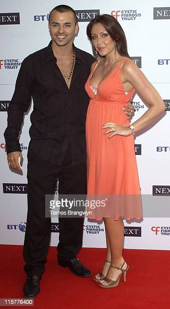 Andy Scott Lee and Michelle Heaton during Cystic Fibrosis Trust Breathing Life Awards Arrivals at Royal Lancaster Hotel in London Great Britain