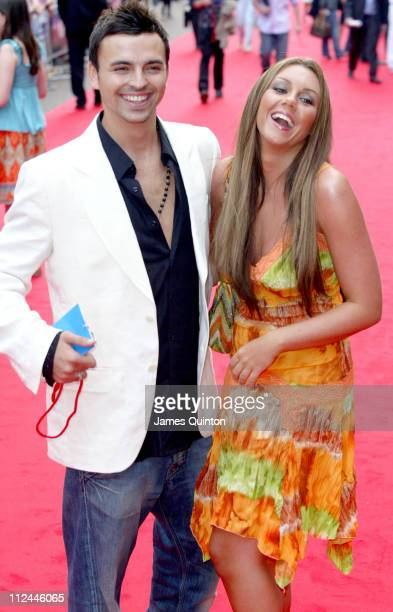Andy Scott Lee and Michelle Heaton during 'Herbie Fully Loaded' London Premiere Outside Arrivals at Vue West End in London Great Britain