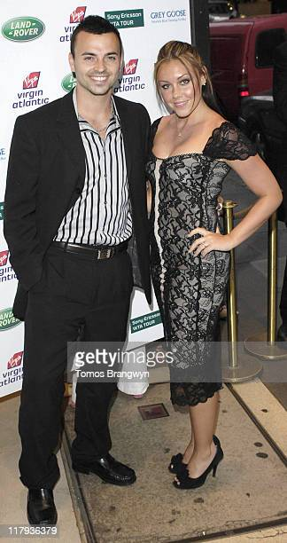 Andy Scott Lee and Michelle Heaton during WTA – Pre Wimbledon Party Outside Arrivals at The Roof Gardens in London Great Britain