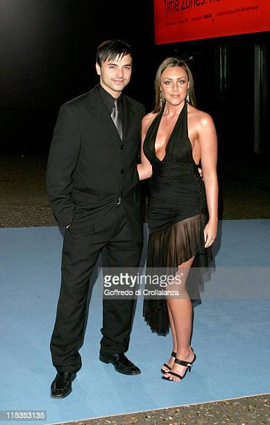 Andy Scott Lee with Michelle Heaton of Liberty X during The National Lottery Helping Hands Awards Arrivals at Tate Modern in London Great Britain