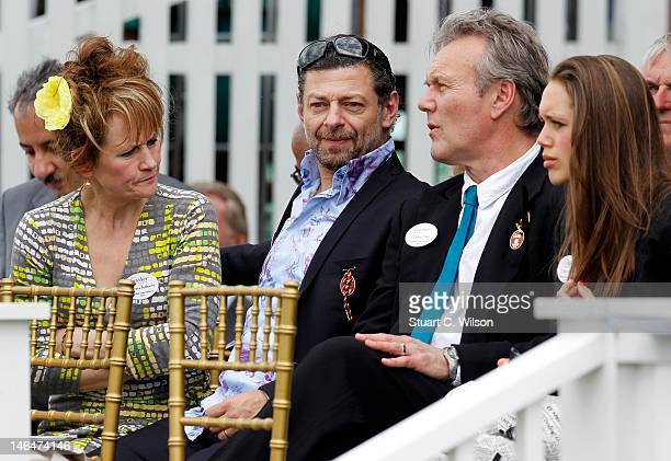Andy Serkis and Anthony Head attend The Cartier Queen's Cup Final at Guards Polo Club on June 17 2012 in Egham England