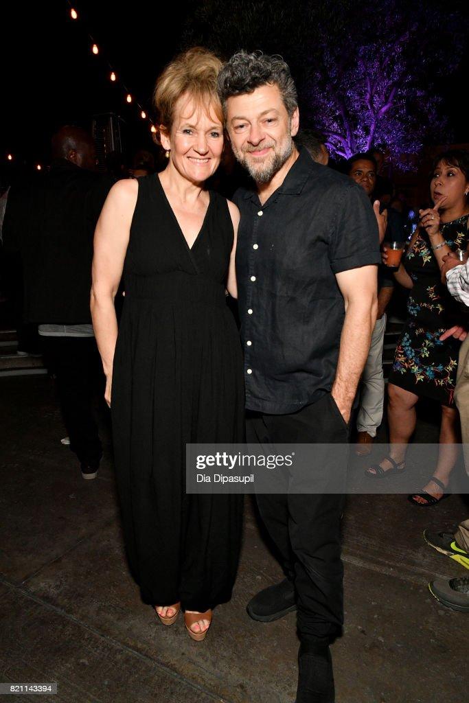 Andy Serkis (R) and Lorraine Ashbourne (L) at Entertainment Weekly's annual Comic-Con party in celebration of Comic-Con 2017 at Float at Hard Rock Hotel San Diego on July 22, 2017 in San Diego, California.