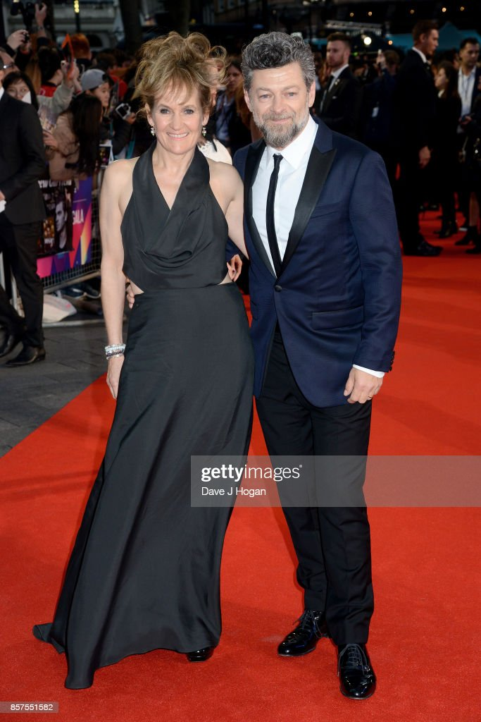 Andy Serkis (L) and Lorraine Ashbourne attend the European Premiere of 'Breathe' on the opening night gala of the 61st BFI London Film Festival on October 4, 2017 in London, England.