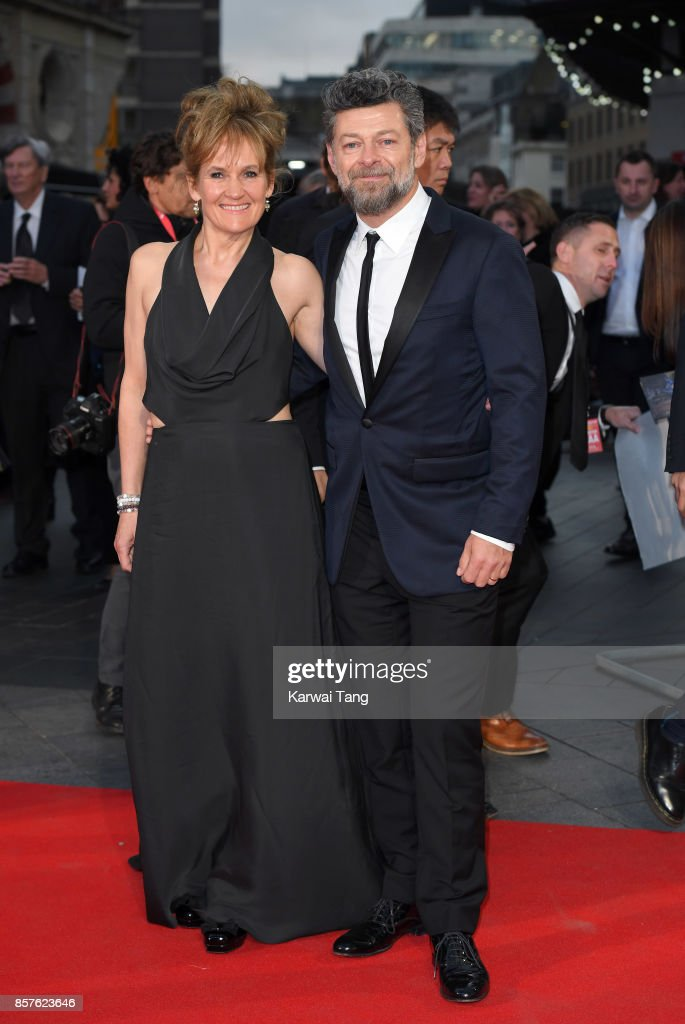 Andy Serkis and Lorraine Ashbourne attend the European Premiere of 'Breathe' on the opening night Gala of the 61st BFI London Film Festival at the Odeon Leicester Square on October 4, 2017 in London, England.