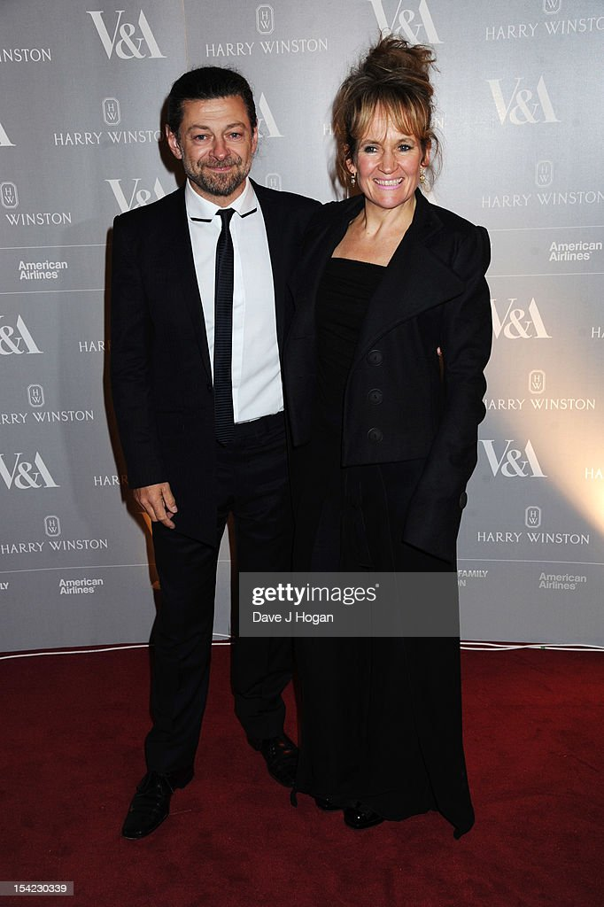 Andy Serkis and Lorraine Ashbourne attend the Hollywood Costume gala dinner at The Victoria & Albert Museum on October 16, 2012 in London, England.