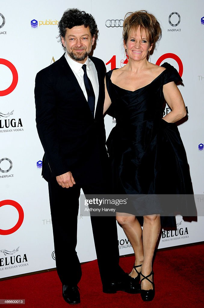 Andy Serkis and Lorraine Ashbourne attend the London Critics' Circle Film Awards at The Mayfair Hotel on February 2, 2014 in London, England.