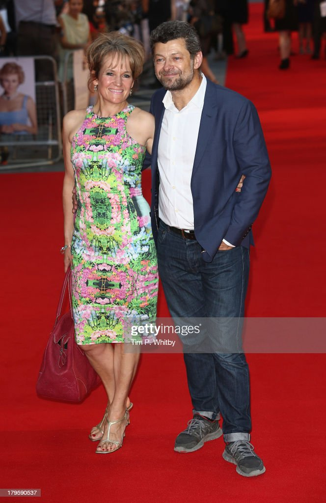 Andy Serkis (R) and Lorraine Ashbourne attend the World Premiere of 'Diana' at Odeon Leicester Square on September 5, 2013 in London, England.