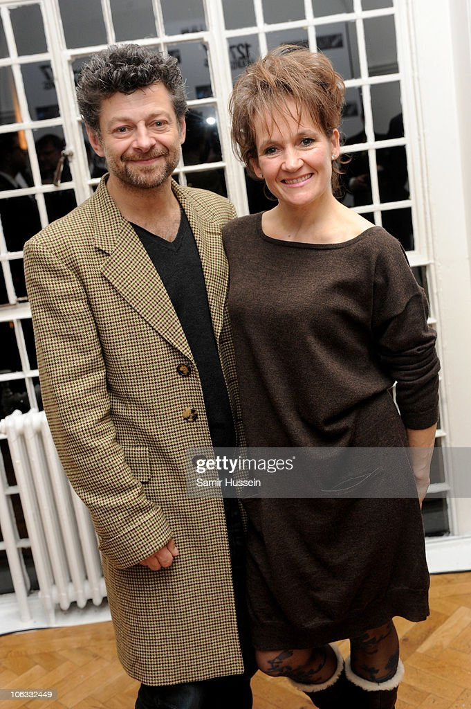 Andy Serkis and wife Lorraine Ashbourne attend the '127 Hours' After Party during the closing gala of the 54th BFI London Film Festival at One Marylebone on October 28, 2010 in London, England.