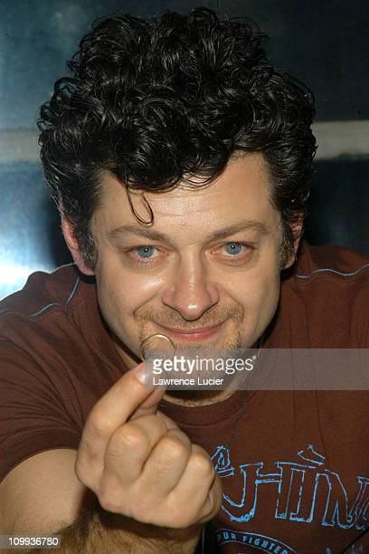 Andy Serkis during Andy Serkis Signs His New Book The Lord of The Rings Gollum How We Made Movie Magic at Barnes Noble Union Square in New York City...