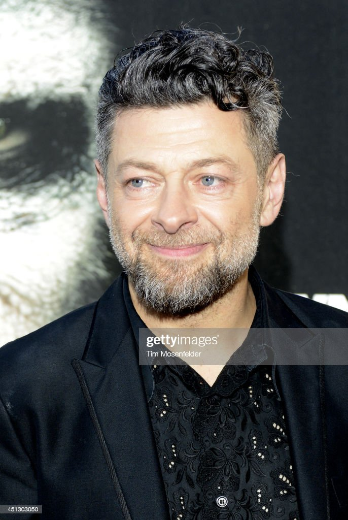 Andy Serkis poses at the premiere of 20th Century Fox's 'Dawn of the Planet of the Apes' at the Palace Of Fine Arts Theater on June 26 2014 in San...