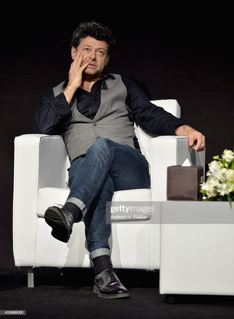 <a gi-track='captionPersonalityLinkClicked' href=/galleries/search?phrase=Andy+Serkis&family=editorial&specificpeople=210893 ng-click='$event.stopPropagation()'>Andy Serkis</a> speaks at the Cinematic Innovation Summit ahead of the 10th Annual Dubai International Film Festival at Atlantis, The Palm Hotel on December 6, 2013 in Dubai, United Arab Emirates.