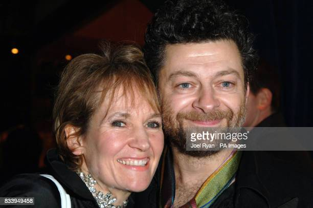 Andy Serkis with his wife Lorraine Ashbourne at the Golden Compass World Premiere afterparty at the Tobacco Docks in London