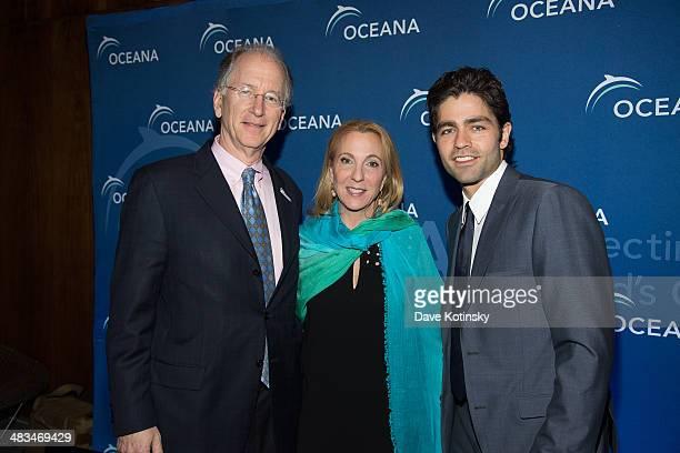 Andy Sharpless Susan Rockefeller Adrian Grenier attend Oceana's New York City Benefit at Four Seasons Restaurant on April 8 2014 in New York City