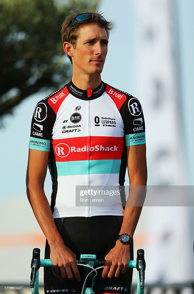 Andy Shcleck of Luxembourg and Radioshack Leopard attends the Team Presentation on June 27, 2013 in Porto-Vecchio, Corsica.