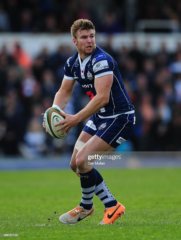 Andy Short of Bristol in action during the Greene King IPA Championship Play Off First Leg match between Bristol Rugby and Rotherham Titans at The Memorial Ground on May 10, 2014 in Bristol, England.