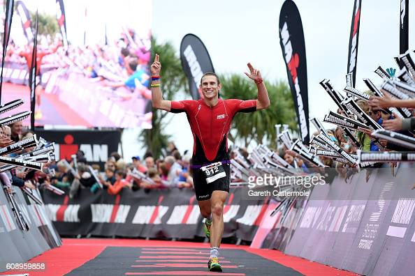 Andy Sloan of Great Britain in action during Ironman Wales on September 18 2016 in Pembroke Wales